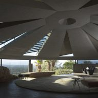 John Lautner's concrete domed Elrod House overlooks Coachella Valley