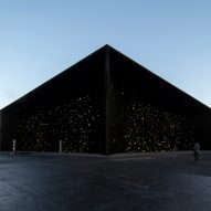 Asif Khan reveals super-dark Vantablack pavilion for Winter Olympics 2018