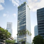 BIG and Carlo Ratti design Singapore tower with trees bursting through facade