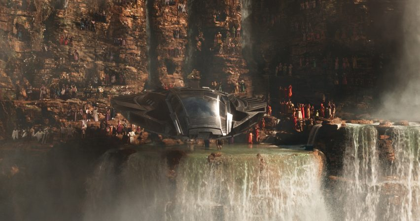 The futuristic architecture featured in hit movie Black Panther is an unexpected blend of Zaha Hadid and Buckingham Palace, according to designer Hannah Beachler.