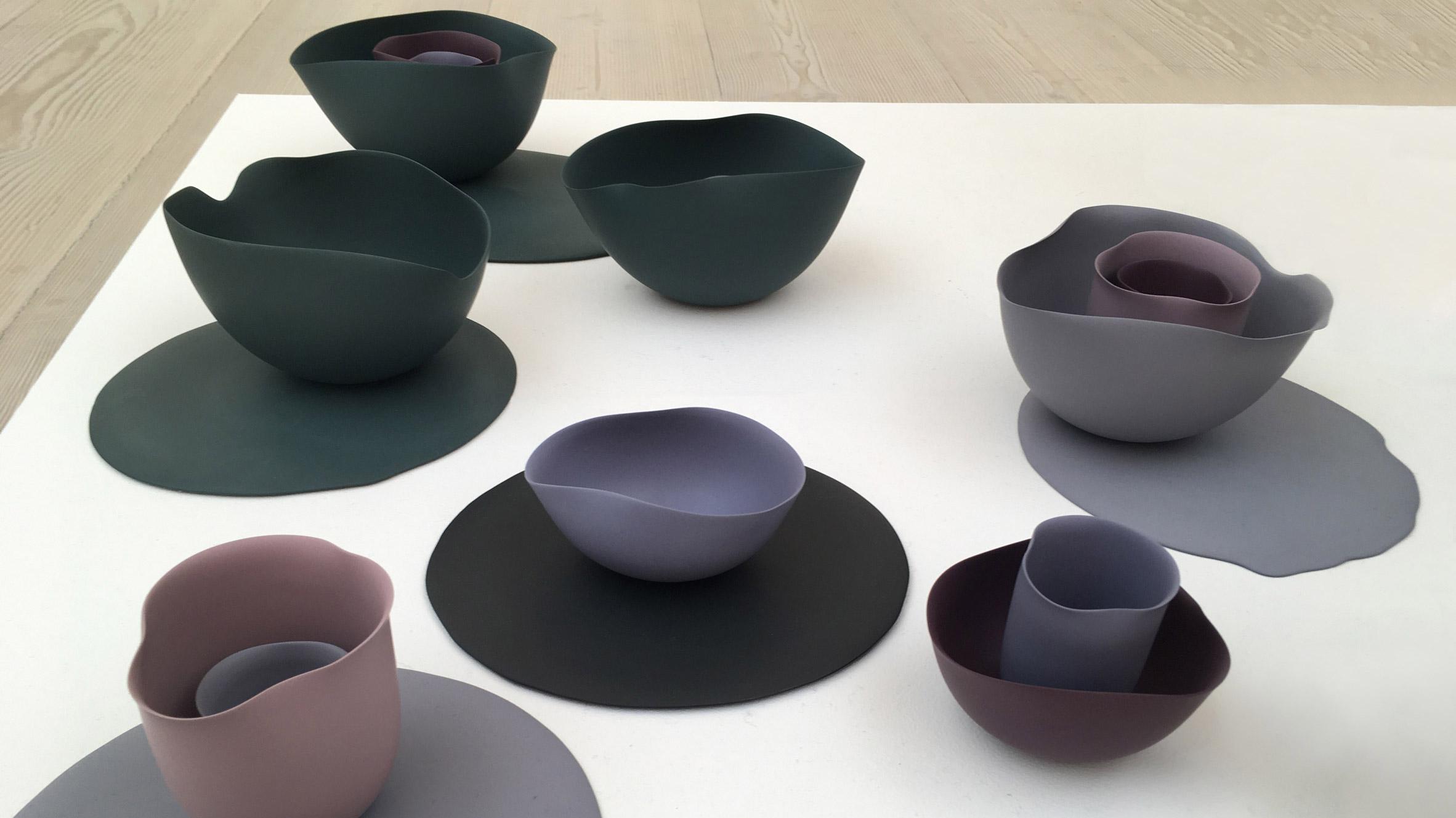 Seo-Yeon Park bases porcelain tableware on Georgia O'Keeffe paintings