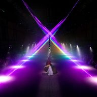 United Visual Artists creates prismatic light installation for Burberry catwalk show