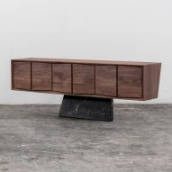 Esrawe Studio launches walnut and marble furniture at Mexico's Zona Maco
