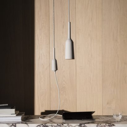 Design Academy Eindhoven graduate Lotte Douwes has created an alternative charging solution to a traditional wall socket, which incorporates sockets that hang from the ceiling so that smartphone users aren't restricted to walls.