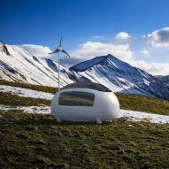 Egg-shaped micro home allows inhabitants to live off-grid