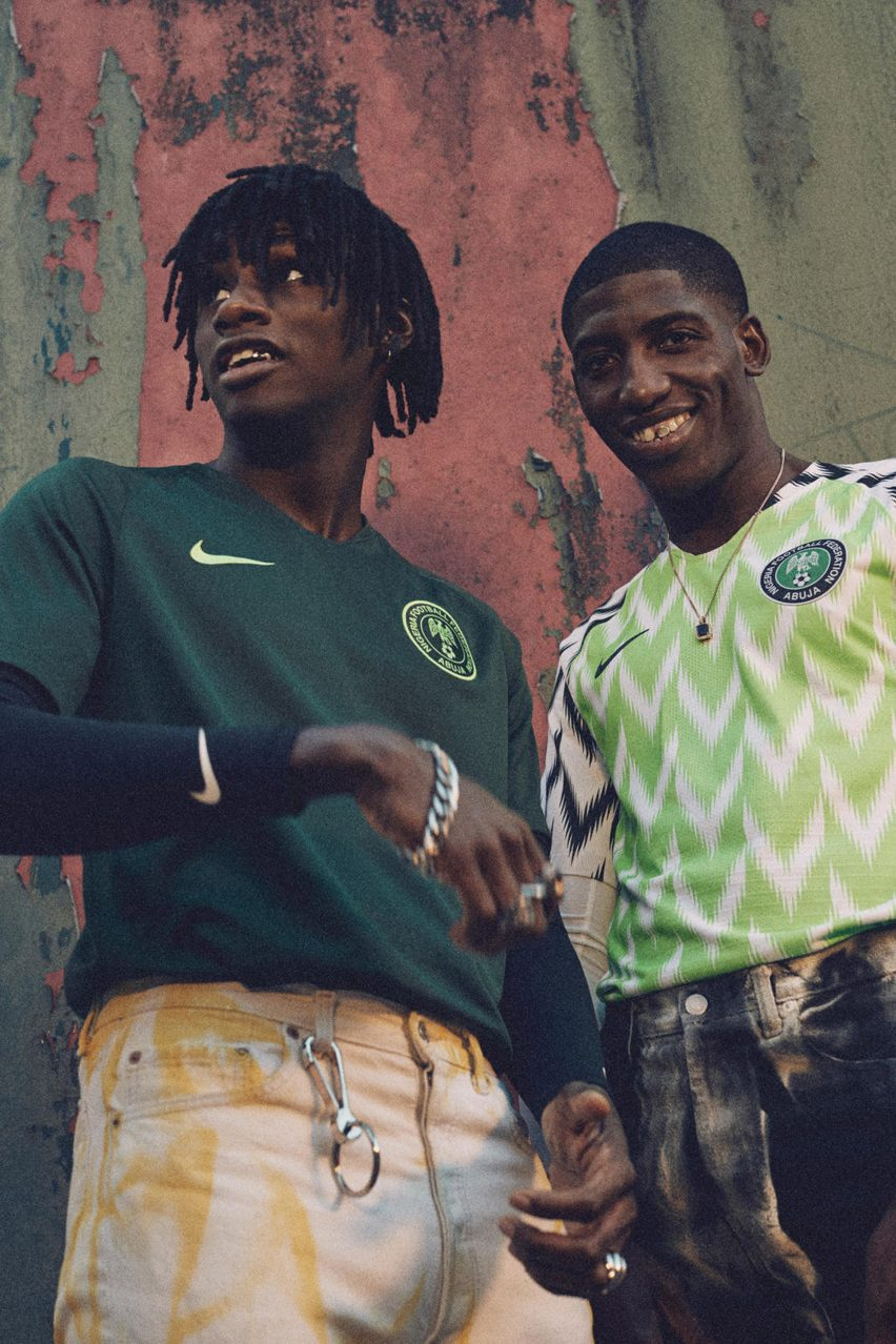 8a590ce40 The away kit offers a stripped-back version of its home counterpart and is  made from a dark green fabric fearing a bright green crest.