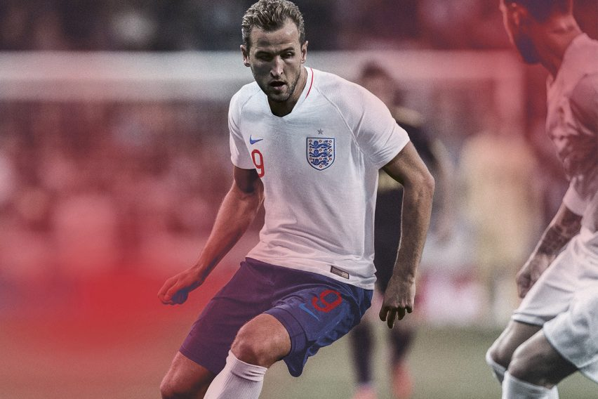 88540cfaae79 The away kit features a two-tone red graphic depicting the Saint George s  Cross