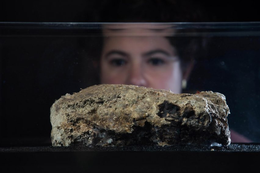 Fatberg exhibited at the Museum of London