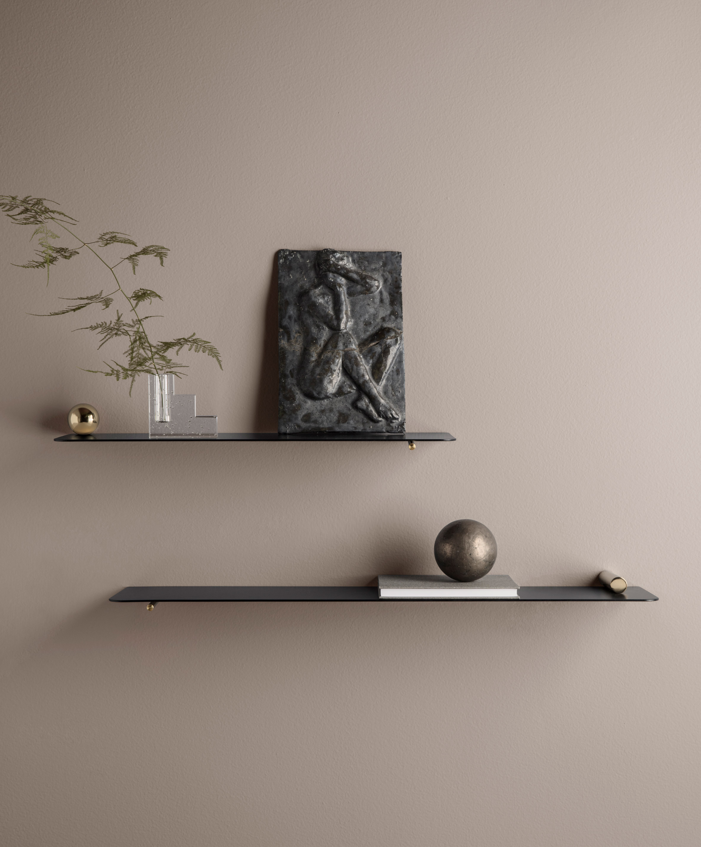 "Ferm Living's Flying Shelves are an ""exercise in perfect balance"""