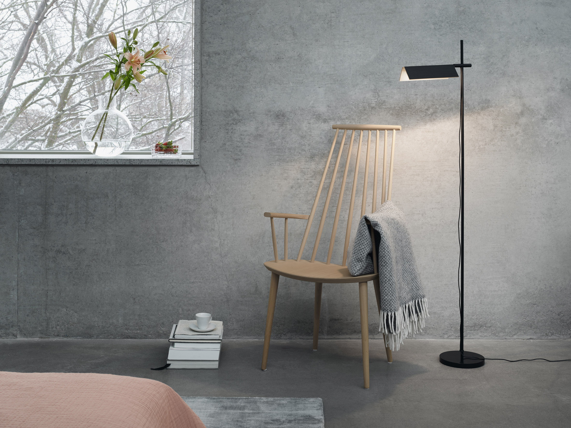 Snøhetta's first lighting collection features black-dyed birch