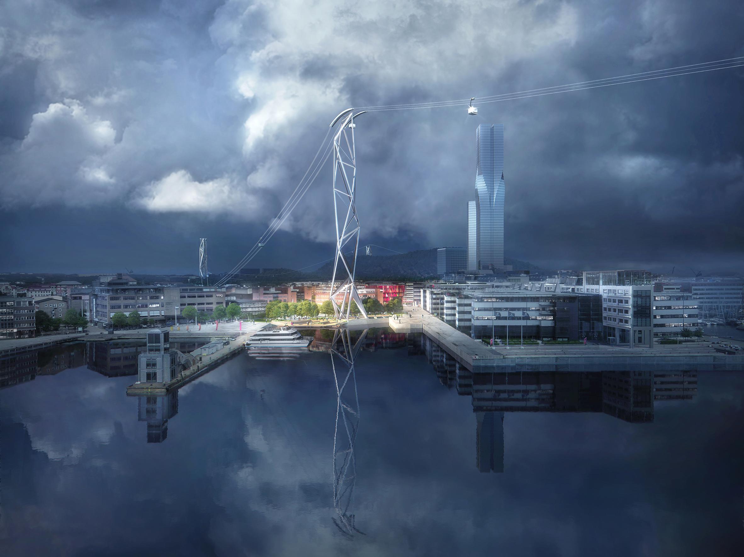 Gothenburg cable cars by UNStudio