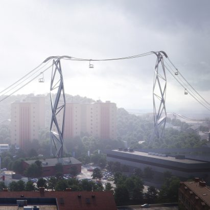 Gothenburg cable cars by UNStudio