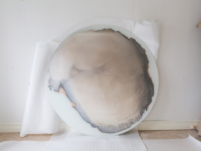 Jenny Nordberg uses uncontrollable process to create unique mirrors in under five minutes