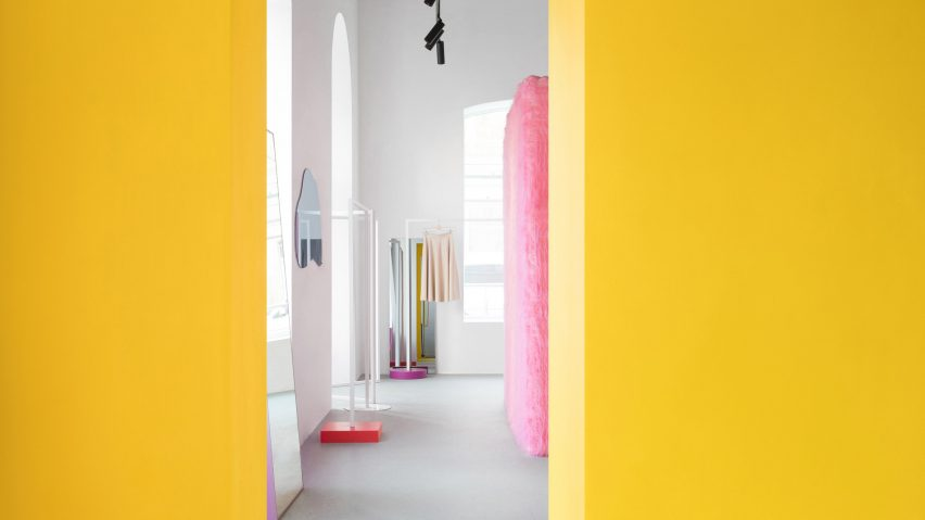 Pink furry walls and vibrant yellow surfaces brighten Russian ...