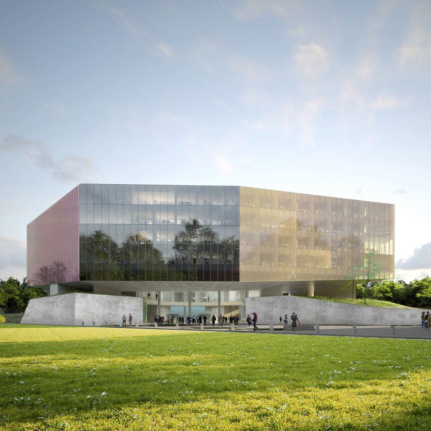 OMA unveils plans for coloured glass courthouse in Lille