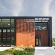 Miller Hull clads Washington fire station in red cedar and black metal