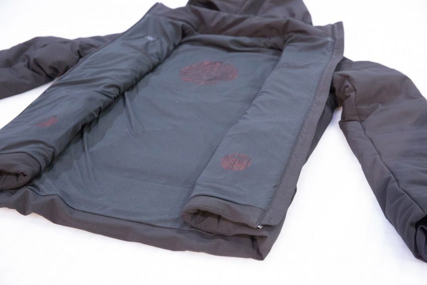 Ministry of Supply's self-heating jacket uses AI to predict users' optimal temperature