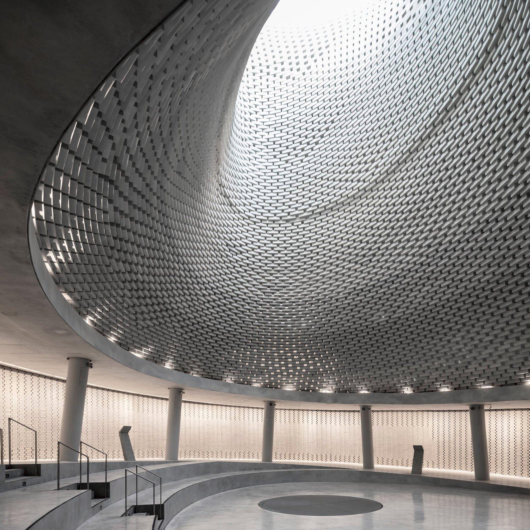 Spiralling memorial by Kimmel Eshkolot is dedicated to