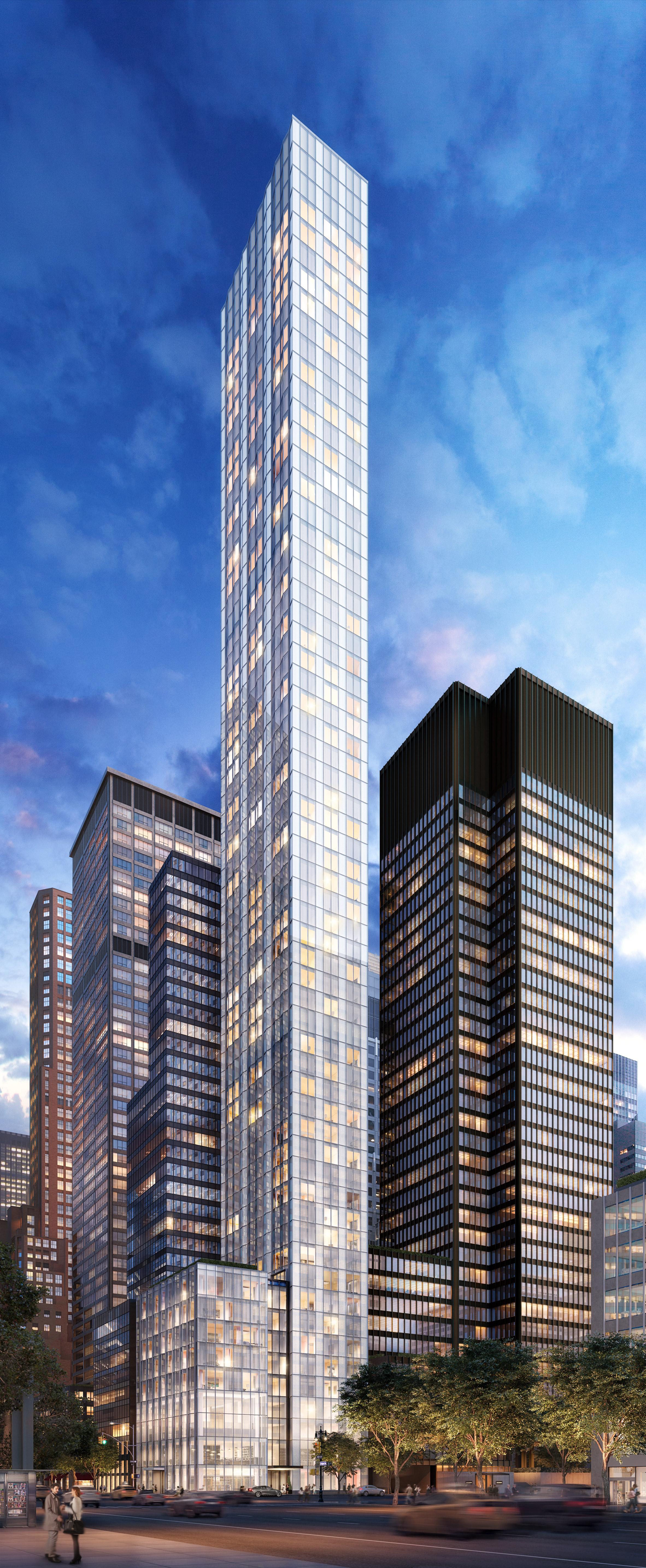 Foster unveils homes for art collectors inside super-skinny New York skyscraper