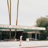 Canopies and porticos shade outdoor spaces at Albert Frey's Palm Springs City Hall