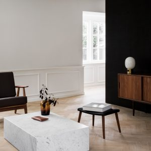 Smoked-oak and stone contrast Copenhagen home interiors by Norm
