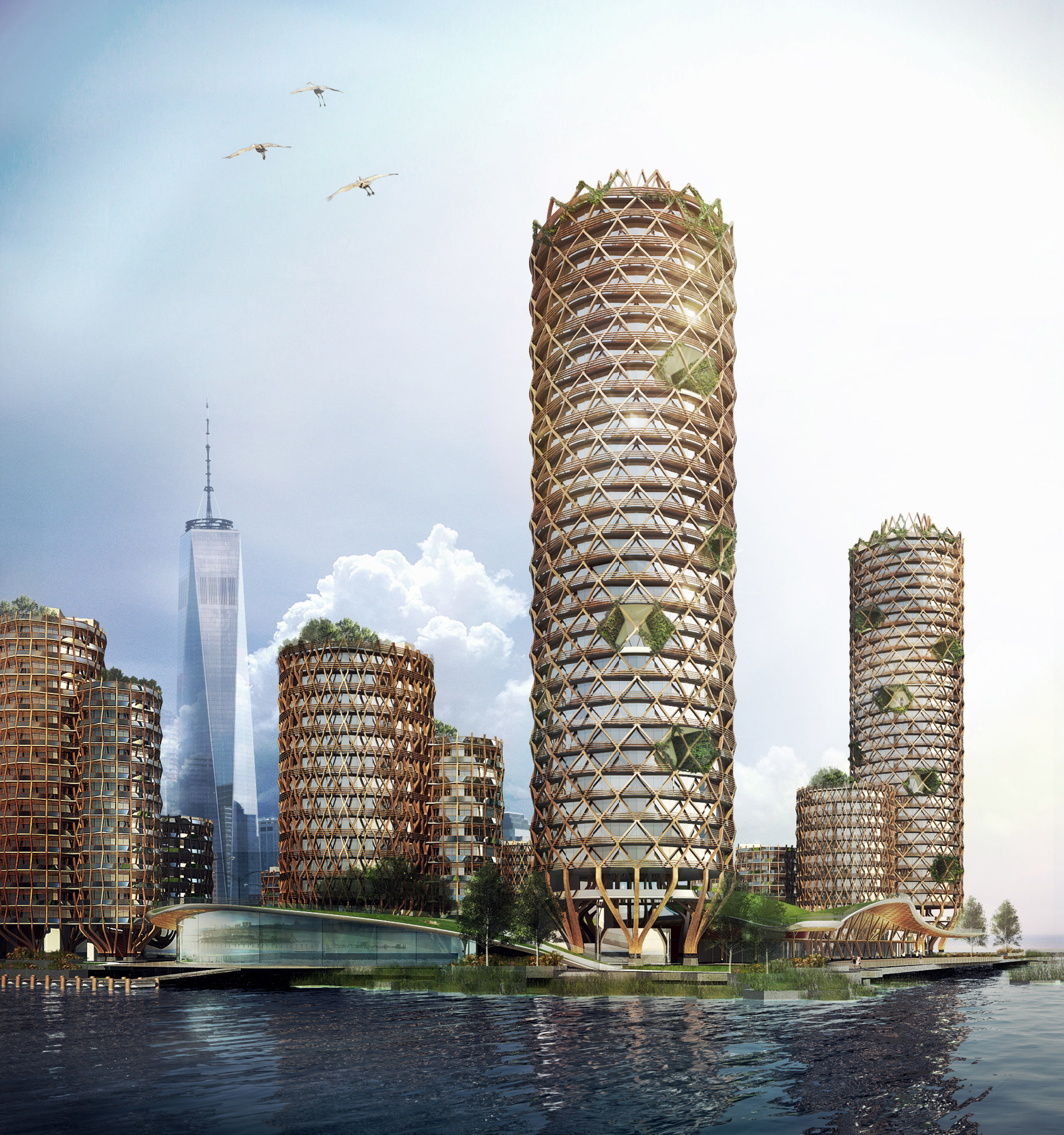"""DFA proposes """"floating"""" affordable housing for dilapidated Manhattan pier"""