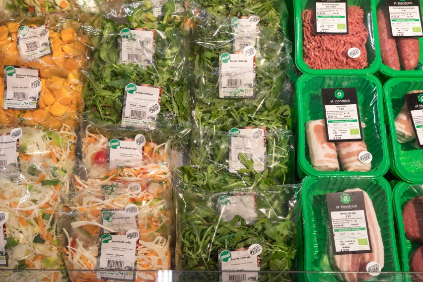 Planet's first plastic free aisle is unveiled at an Amsterdam supermarket
