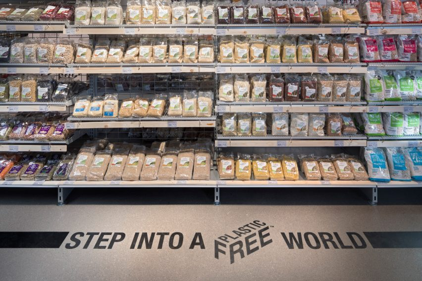 "Made Thought creates visual identity for ""world's first"" plastic-free supermarket aisle"