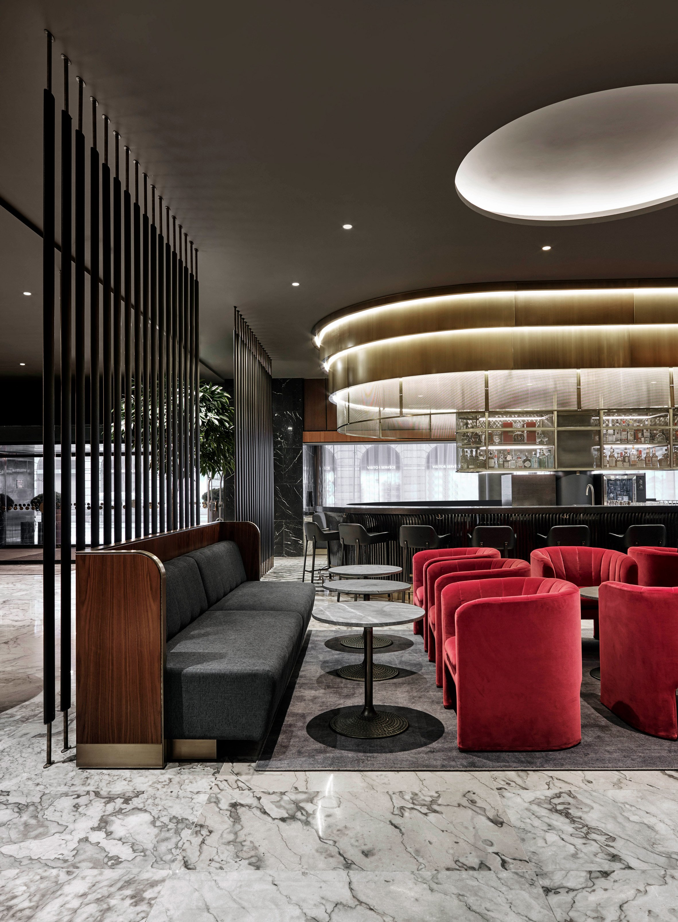 space copenhagen renovates landmark arne jacobsen hotel using updated classic furniture. Black Bedroom Furniture Sets. Home Design Ideas