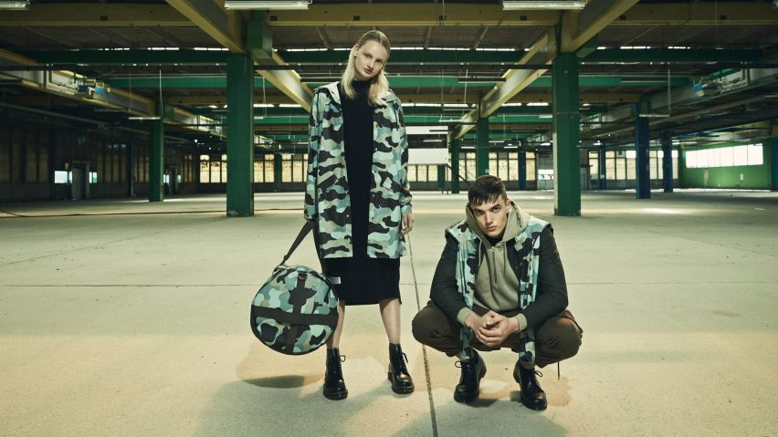 win a Rains camouflage jacket and travel bag