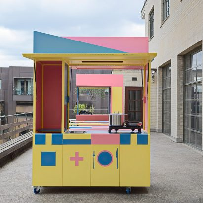 Medium image of merrett houm  ller architects creates pop up kitchen for refugees and asylum seekers