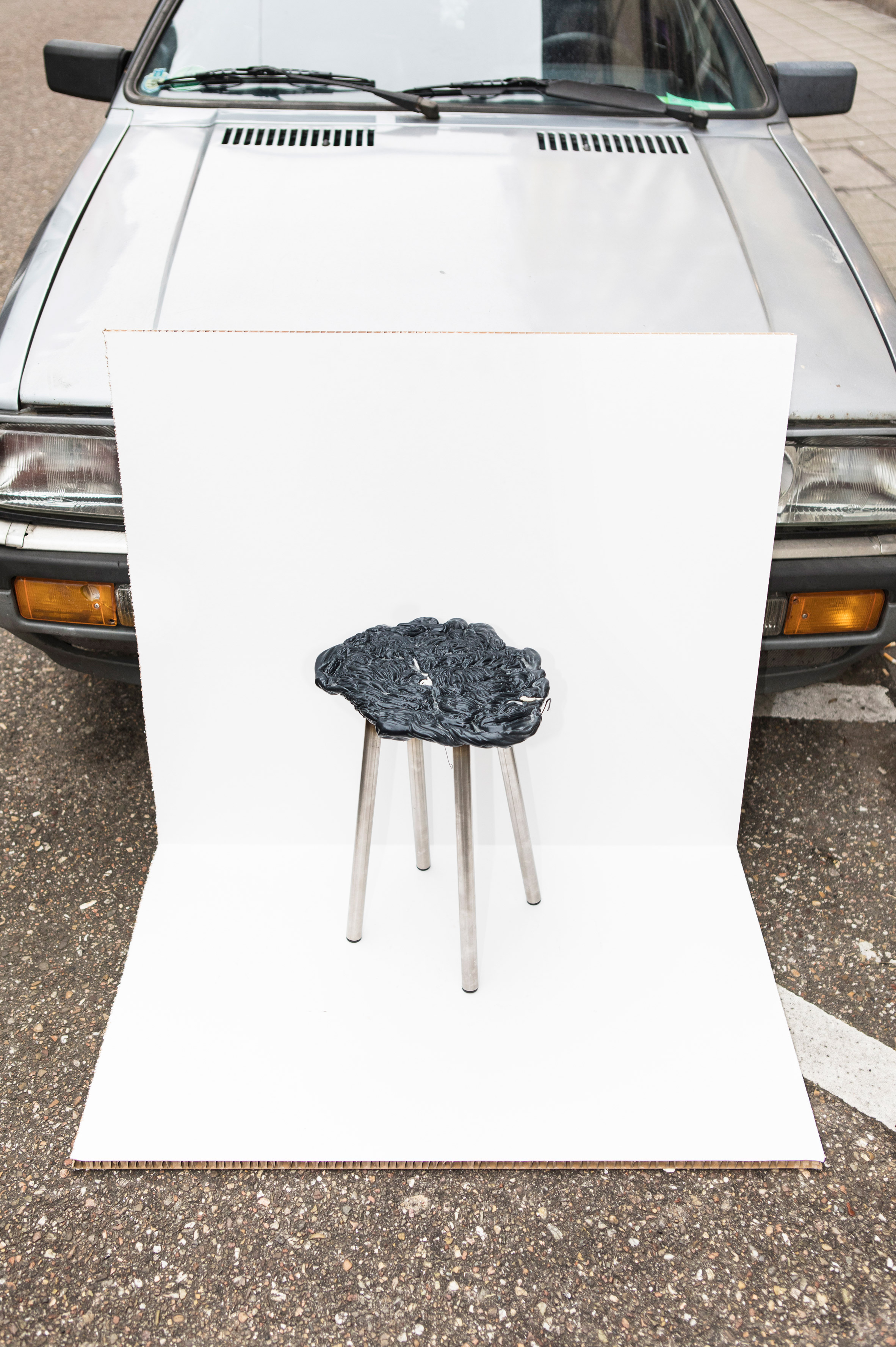 Scrap Life Project transforms waste plastic from injection-moulding process into stools