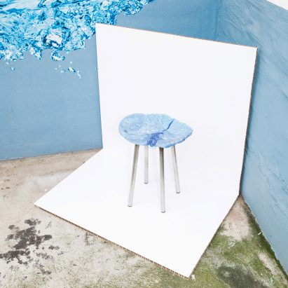 A group of four German designers have turned the oddly-shaped plates of raw plastic that pour out of injection moulding machines during production, into stool seats.