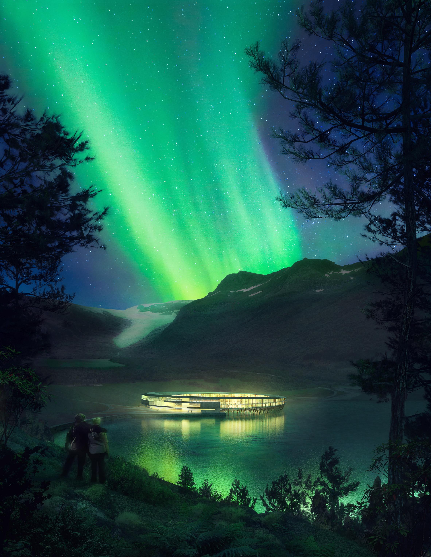 "Snøhetta unveils plans for ""energy-positive"" Arctic Circle hotel"