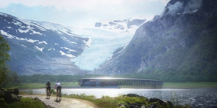 "Snøhetta unveils plans for ""energy-positive"" Arctic Circle hotel - Dezeen Snøhetta unveils plans for ""energy-positive"" Arctic Circle hotel - Dezeen svart hotel snohetta architecture hotels norway dezeen 2364 col 2"