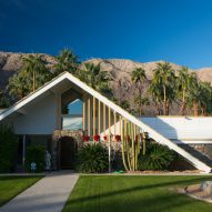 A-frame roofs typify Charles DuBois' Swiss Miss houses in Palm Springs