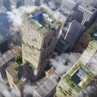 World's tallest timber tower proposed for Tokyo