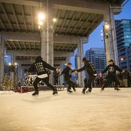 Ice-skating trail transforms unused space beneath Toronto highway