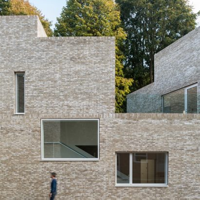 Geometric Brick Clad Boarding House By MICA References Its Traditional  Neighbours