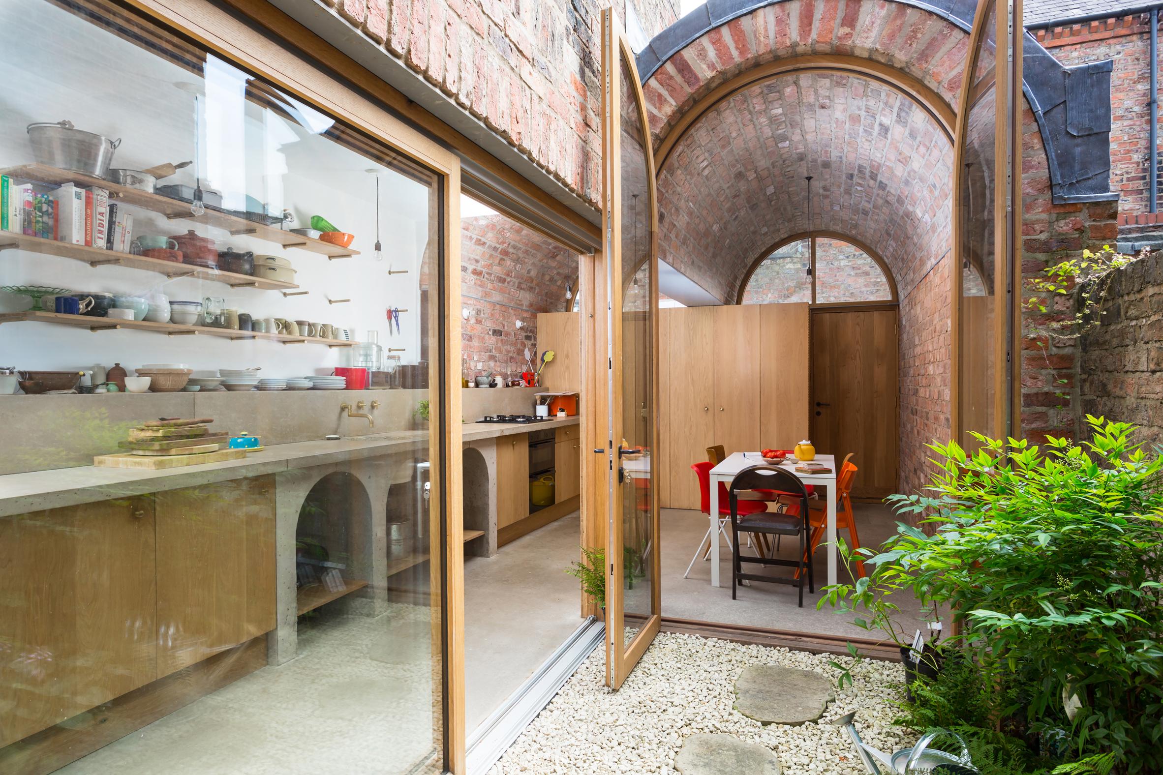 Studio Ben Allen adds pair of brick vaults to terraced house in York