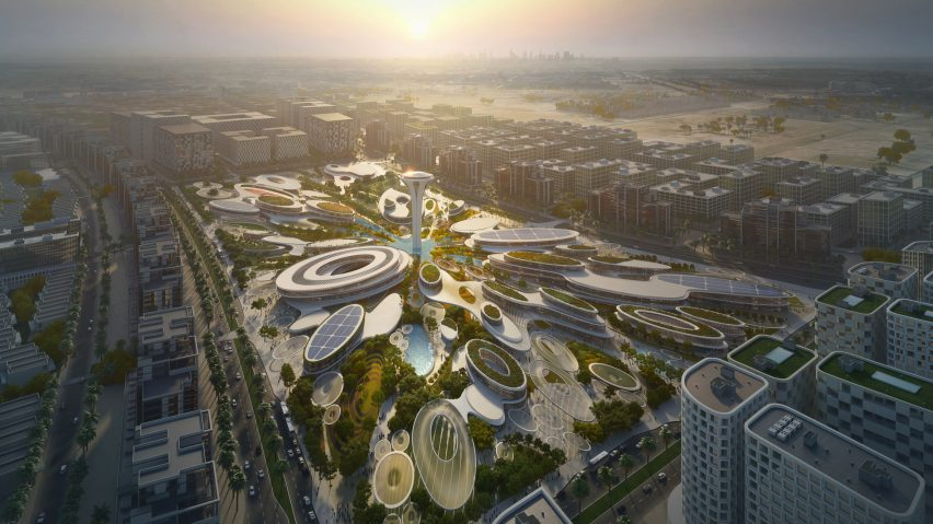 Zaha Hadid Architects wins contest for water-inspired cultural hub in UAE