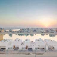 Associated Architects Partnership designs terrace of minimalist homes at Kuwait's Khiran Resort