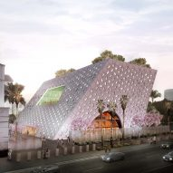 OMA to extend historic Jewish temple in LA with skewed pavilion
