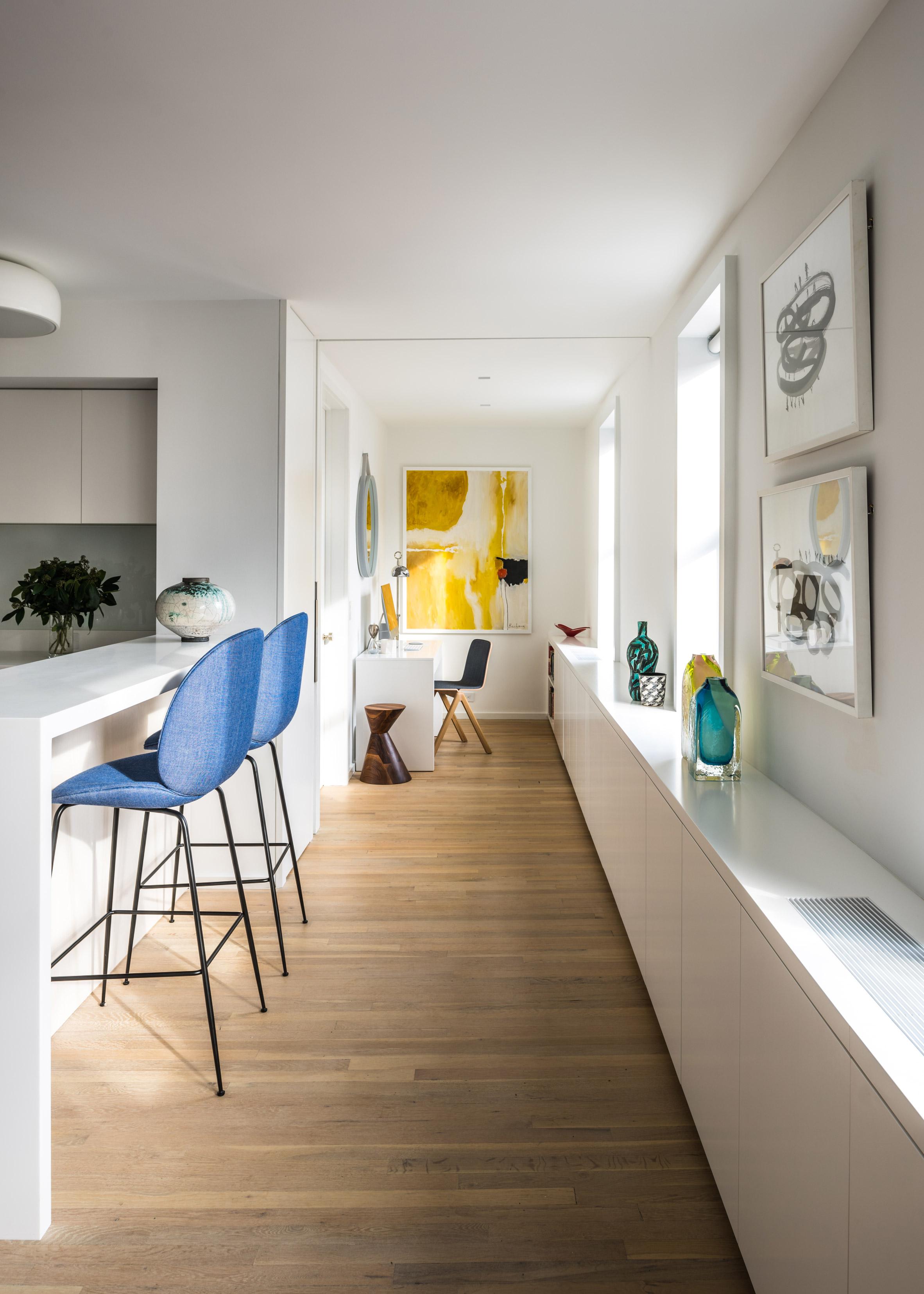 MKCA overhauls West Village apartment with custom millwork throughout