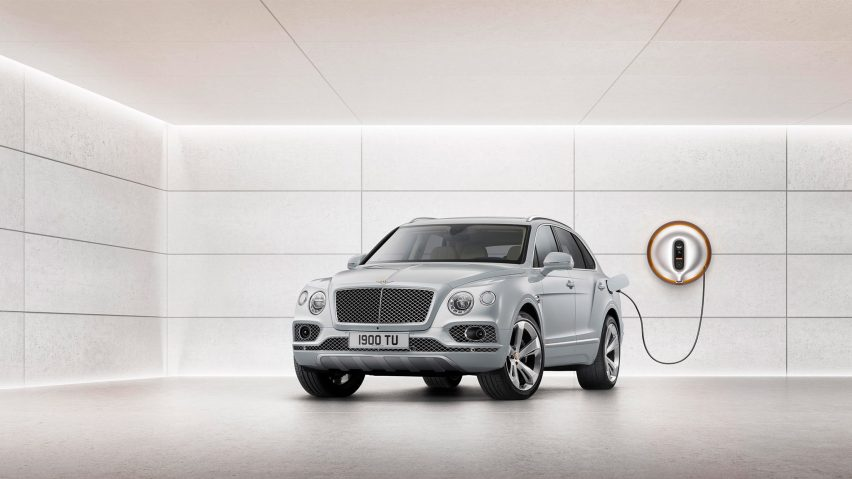 French designer Philippe Starck has teamed up with luxury car retailer Bentley to create a smart power dock for the manufacturer's new Bentayga Hybrid model.