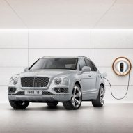 "Philippe Starck designs ""avant-garde"" power dock for Bentley's first hybrid car"