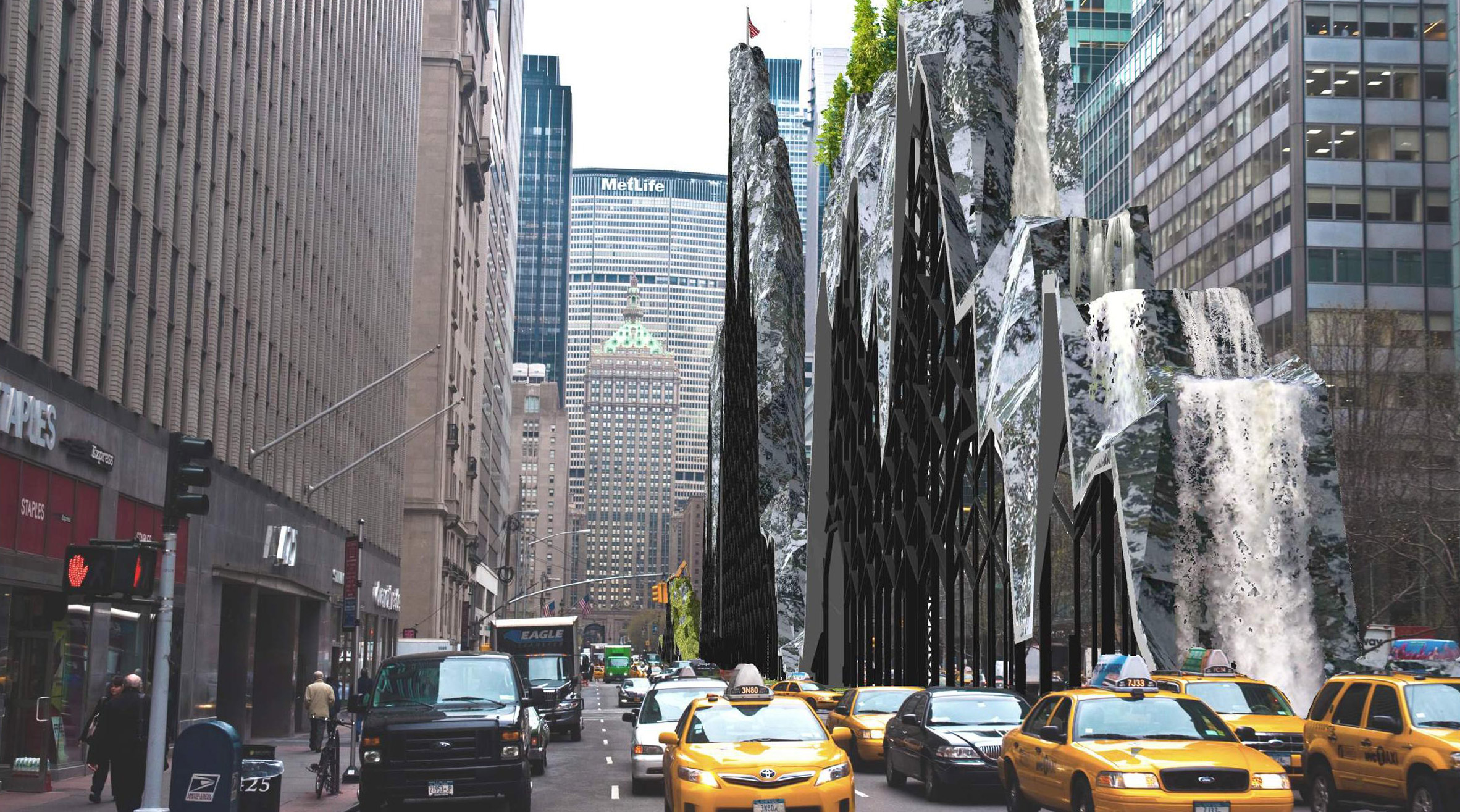 Waterfalls, forests and kayaks among proposals for Park Avenue centreline