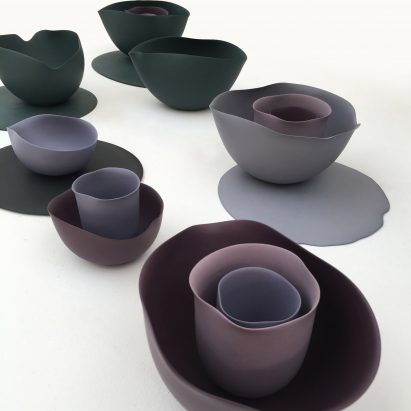 Seo-Yeon Park makes porcelain tableware based on Georgia O'Keeffe paintings