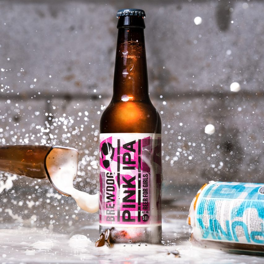"Beer brand Brewdog has released a satirical ""beer for girls"" ahead of International Woman's Day on 8 March,"