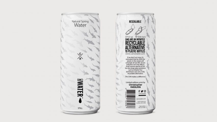 canowater replaces drinking bottles for aluminium containers